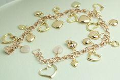 Aussergewöhnliches Unikat:  HERZ BETTEL ARMBAND von GoldenShop24 Charmed, Etsy, Vintage, Bracelets, Jewelry, Gold Jewellery, Craft Gifts, Heart, Wristlets