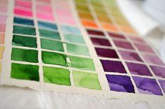 How I'm making my color charts.