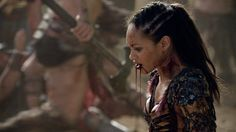 Season 4 Noooo! Naevia! Look, the consolation is that now she and Crixus can be together in the afterlife, but this broke our hearts.