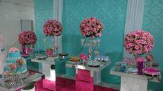 decoração azul tiffany e rosa - Pesquisa Google