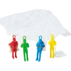 Action Paratroopers... the perfect party favor. A dozen for $6.25 at OrientalTrading.com