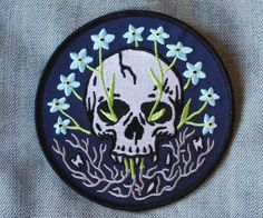Forget Me Not - Embroidered Patch - Cat Coven