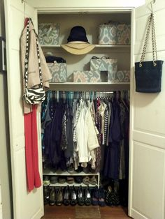 Small closet organized and clutter-free!