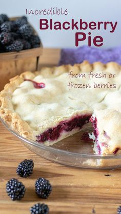 Blackberry Pie is easy and delicious! Find some wild blackberries on the side of the road and make one today! #blackberryrecipes #blackberrypie #farmtotable #blackberrypierecipe #blackberrypiefilling #easyblackberrypie #binkysculinarycarnival Blackberry Pie Fillings, Blackberry Pie Recipes, Summer Desserts, Just Desserts, Homemade Pie Crusts, Food Stands, Fresh Fruits And Vegetables, Fun Cooking, Cookie Desserts
