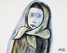 Werner Berg Frierendes Mädchen 1948 Berg, Disney Characters, Fictional Characters, Snow White, Aurora Sleeping Beauty, Disney Princess, Woodblock Print, Art Pieces, Watercolour