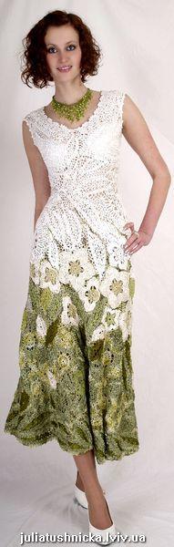 gorgeous Russian style Irish crochet dress