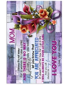 Perfect Gifts For Mom Poster | Family Love Gifts Great Gifts For Mom, Perfect Gift For Mom, Love Gifts, To My Mother, Daughter Love, Family Love, All Things, Embellishments