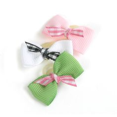 Gingham Twist Bows