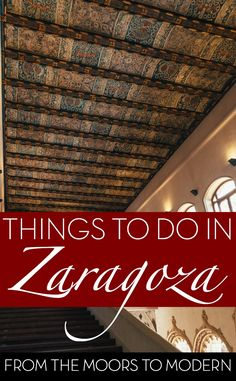 Things to do in Zaragoza. Forget the coast – if you love unravelling the culture of a country then you have to head to its cities and Zaragoza is perhaps one of the most stylish and historic options you should add to your list for travel in Spain. Plus you can access Spain's best cities by high speed rail - discover how in our latest post. #SpainByTrain #Spain