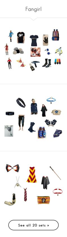 """""""Fangirl"""" by fangirl-irl on Polyvore featuring Kipling, Casetify, Rubie's Costume Co., Cufflinks, Inc., fangirl, startrek, harrypotter, ravenclaw, Slater Zorn and Gryffindor"""