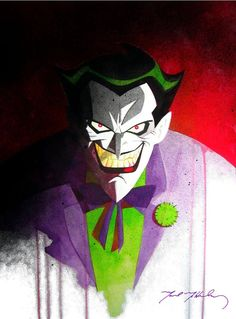 A Justice League style Joker, one of my two favorite styles! by *markmchaley