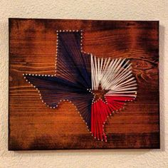 Texas State, Texas Flag, String Art, Nail Art, State, Hometown