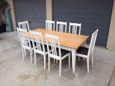 Country Style Dining Table Chairs