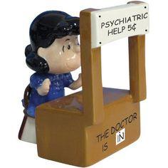 Peanuts Magnetic Psychiatrist Lucy Salt and Pepper Shaker Set