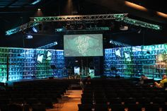 Facing the Stage from Impact Church in Lowell, MI | Church Stage Design Ideas
