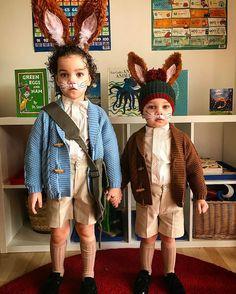 Peter Rabbit & Benjamin Bunny #instakids #littlelondoners #peterrabbit #benjaminbunny #beatrixpotter #worldbookday @panachekids #brothers #goodbooks @mirandatextil #london #ootd #fancydress #books #booklover #costume #cute