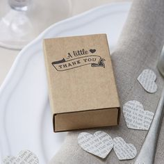 """Looking for the perfect favour to give to your wedding guests… you need our matchbox favour boxes. Each cute little box is printed with """"A little tha Favour Boxes, Little Boxes, Online Boutiques, Affair, Favors, Party, Shop, Vintage, Favor Boxes"""