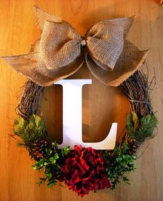 Christmas Wreath Grapevine Wreath with by WhisperingWelcome, $56.00