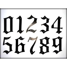 Metal House Numbers 5 Old English Style Numbers Street Numbers Outside... (€8,74) ❤ liked on Polyvore featuring home, home decor, home & living, home décor, ornaments & accents, silver, english home decor, outdoor plaques, thank you plaques and metal home decor
