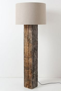 OK  Now I'm thinking I could make some serious money!!  hYou *could* pay $1,898 for this floor lamp from Anthropologie - OR you could just find a railroad tie lying around, buy a lamp kit from the hardware store and lampshade from Target and make it yourself for around 30.00 - a savings of 1,850.00!!