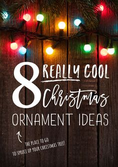 Christmas ornaments come in all shapes and sizes, but we have searched the North Pole and back for the top 8 Cool Christmas Ornament Ideas to spruce up your Christmas tree. Check out our list below to find your newest Christmas tree addition!