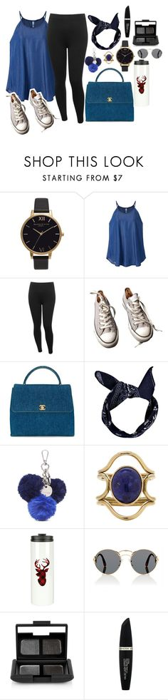 """#.#__blue__#.#"" by pikenapayne ❤ liked on Polyvore featuring Olivia Burton, M&Co, Converse, Chanel, Boohoo, Nine West, Mociun, Prada, NARS Cosmetics and Max Factor"