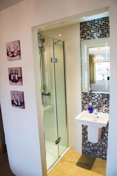 Amazing what you can fit into a small space. Sliding cavity doors to the bathroom - genius! Tiny Bathrooms, Ensuite Bathrooms, Tiny House Bathroom, Bathroom Renos, Laundry In Bathroom, Bathroom Layout, Beautiful Bathrooms, Small Bathroom, Bathroom Ideas