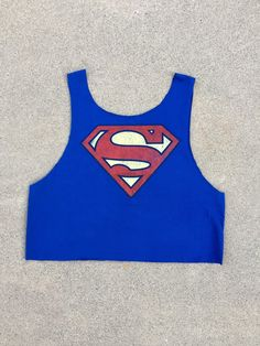 Superman Crop Top by ClosetCreep on Etsy https://www.etsy.com/listing/236847879/superman-crop-top