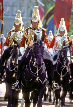 The Household Cavalry is made up of the two most senior regiments of the British Army, the Life Guards and the Blues and Royals (Royal Horse Guards and the 1st Dragoons)