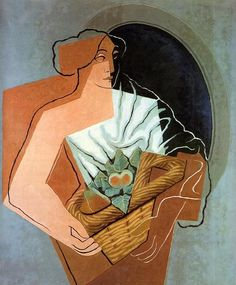 Woman With Basket, Oil On Canvas by Juan Gris (1887-1927, Spain)