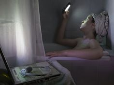 Documenting our obsession with technology, Parisian-born photographer Catherine Balet bathes the world in digital light. Inspired by the unusually beautiful sight of a young couple standing in the moonlight. A Level Photography, Photography Series, Mobile Photography, Photography Ideas, Digital Light, Technology Lessons, Lights Fantastic, First World Problems, Under The Lights