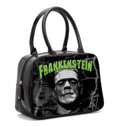 Universal Monsters Frankenstein Bowler Handbag rock rebel goth punk horror psychobilly pin up hot topic sourpuss accessories purse