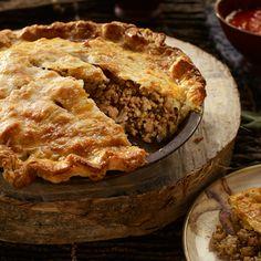 Recette et accord La Tourtiere, Apple Pie, Chicken Recipes, Turkey, Diet, Meals, Desserts, Birds, Food