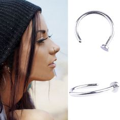 10Pcs/Lot Punk Clip On Fake Nose Open Hoop Ring Lip Earring Ring Body Piercing