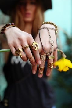 caught up in a dream . . . boho rings