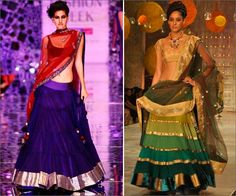 Manish Malhotra lehengas are the best in the industry. His lehenga collection features a modern Indian look which has its own aura of traditional elegance.