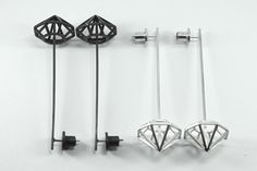 These earrings are part of the diamond series by Australia designers Betty & Cash.