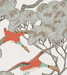 Mulberry Home - Flying Ducks Wallpaper