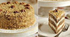 Tort de nucă.  aluatul. -  200 gr. fáiná -  100 gr... Vanilla Cake, Cooking Tips, Cake Recipes, Food And Drink, Cookies, Sweet, Bun Bun, Divas, Pastel