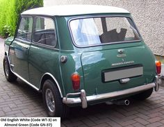 MK1 Morris Mini Cooper S Old English White on Almond Green