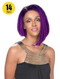 Zury Sis Afro Braid Lace Front Wig BOB A-LINE - Ebonyline