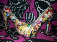 Disney Princess comic heels by Marvewels on Etsy, £35.00