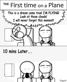 Is this how your first plane ride went? #travel #travelquestion #comic