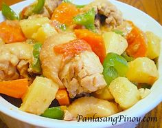 Pininyahang Manok or Pineapple Chicken Recipe is a delicious chicken dish that is best served with steamed rice. Get to know the details by following our cooking video.