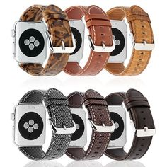 1813f50ef66 Genuine Leather Apple Watch Band 42mm 38mm