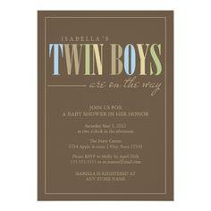 5 x 7 Twin Boys | Baby Shower Invite