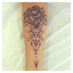 Rose Tattoos Gallery ❤ liked on Polyvore featuring accessories, body art and tattoos