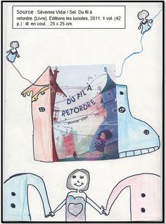 """Couverture réalisée par Chaïma à partir du livre """"Du fil à retordre"""" de Séverine Vidal."""