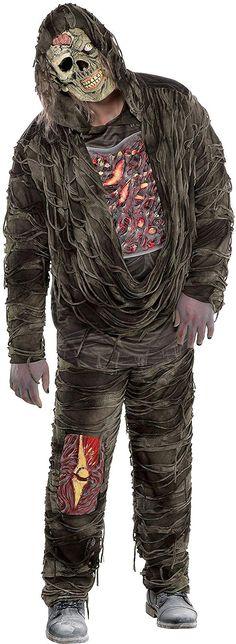 Guts Body Part Zombie Mens Fancy Dress Halloween Adults Horror Costume Shirt New