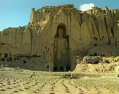 Buddhas of Bamiyan, Afghanistan before destruction by the Taliban in 2001